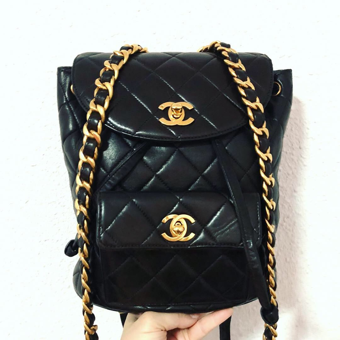 0905e3c3b934 Authentic Chanel Lambskin backpack with 24k Gold Hardware, Luxury ...
