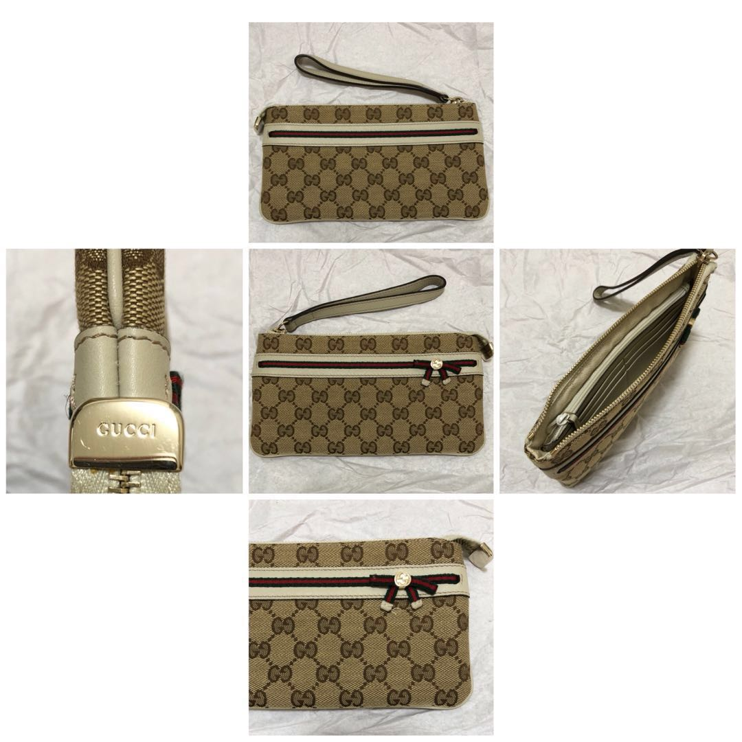 3f43432d449d35 Authentic Gucci wristlet wallet, Luxury, Bags & Wallets, Clutches on ...
