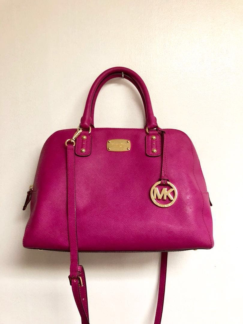 fdd785cba6e6 ... coupon code for authentic michael kors crossbody bag in hot pink  preloved womens fashion bags wallets