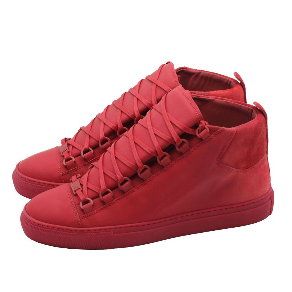 61c911470ffd BALENCIAGA Arena Leather High-Top Sneakers