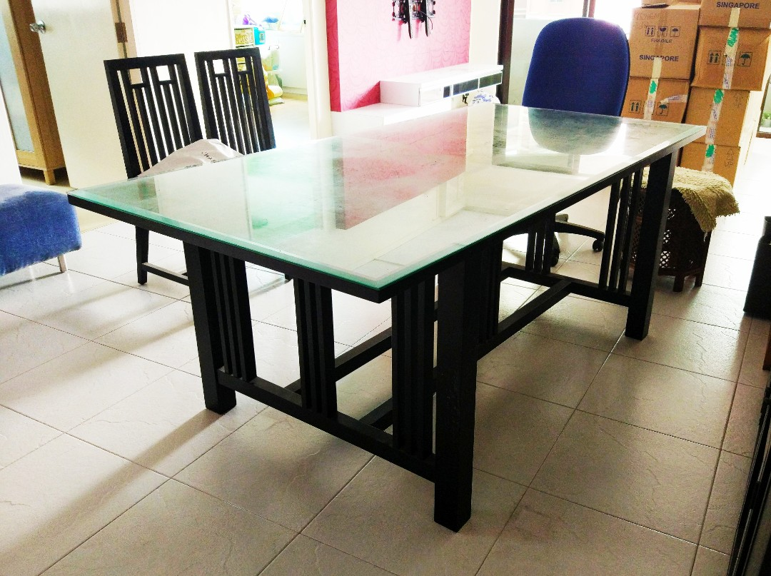6 Seater Dining Table Set Furniture Tables Chairs On Carousell
