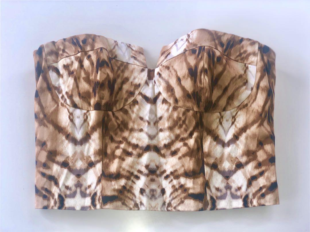 Bardot Animal Print Bodice