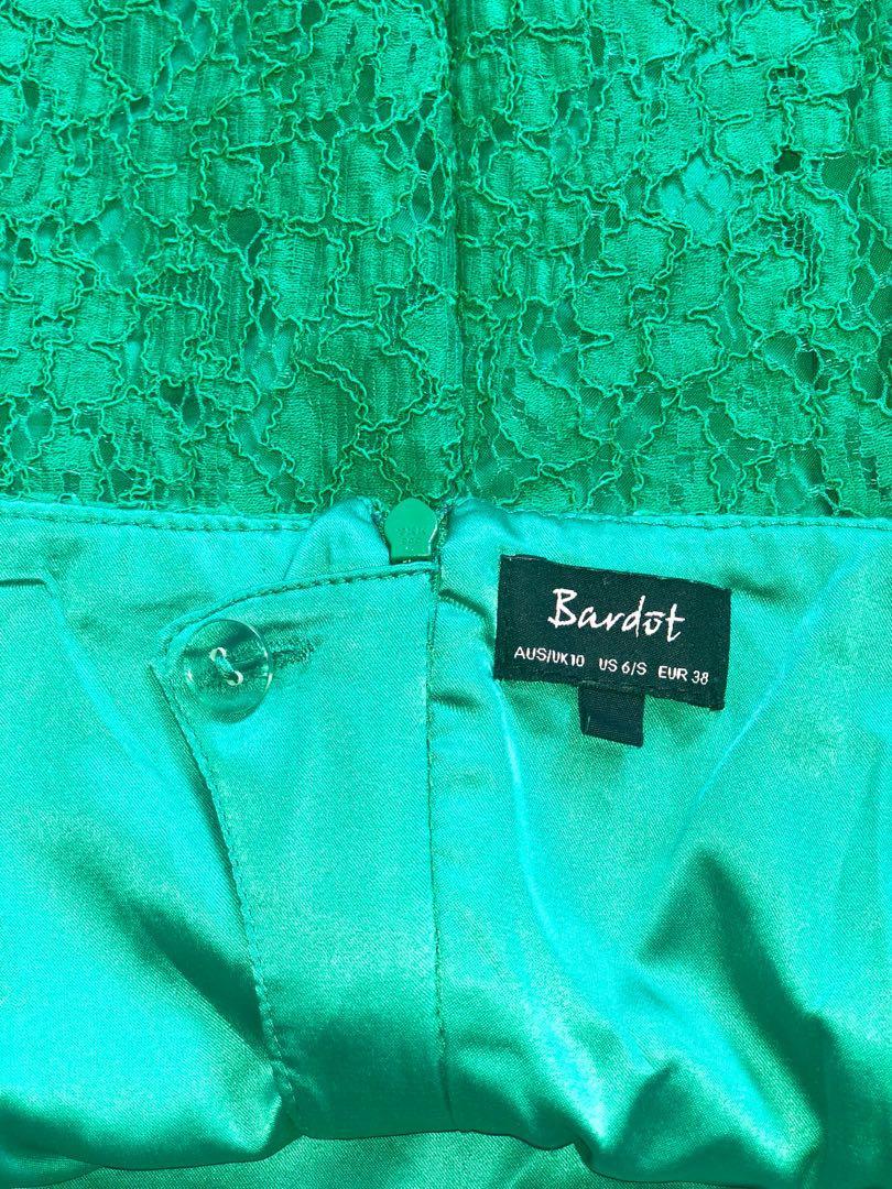 Bardot Emerald Green Lace Dress