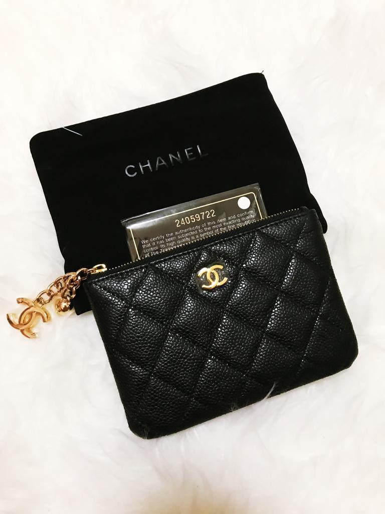 14c3ac2135e4 BN Chanel Mini O Case Card Holder Pouch