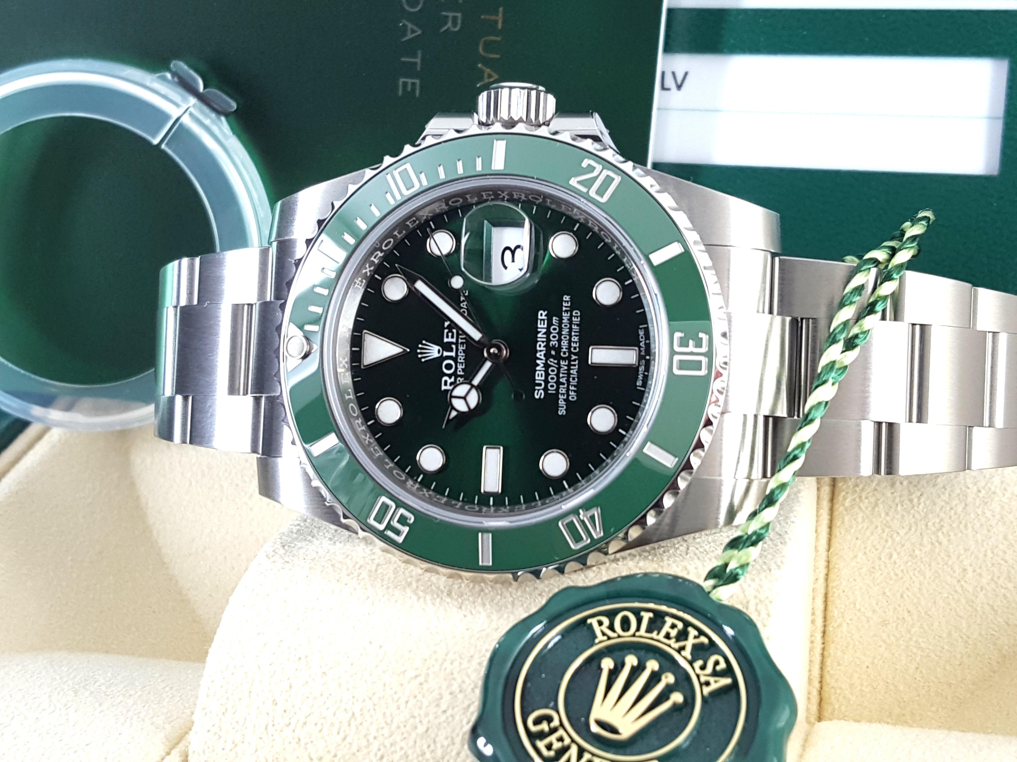 BN Rolex Hulk Green Submariner Ceramic 116610LV