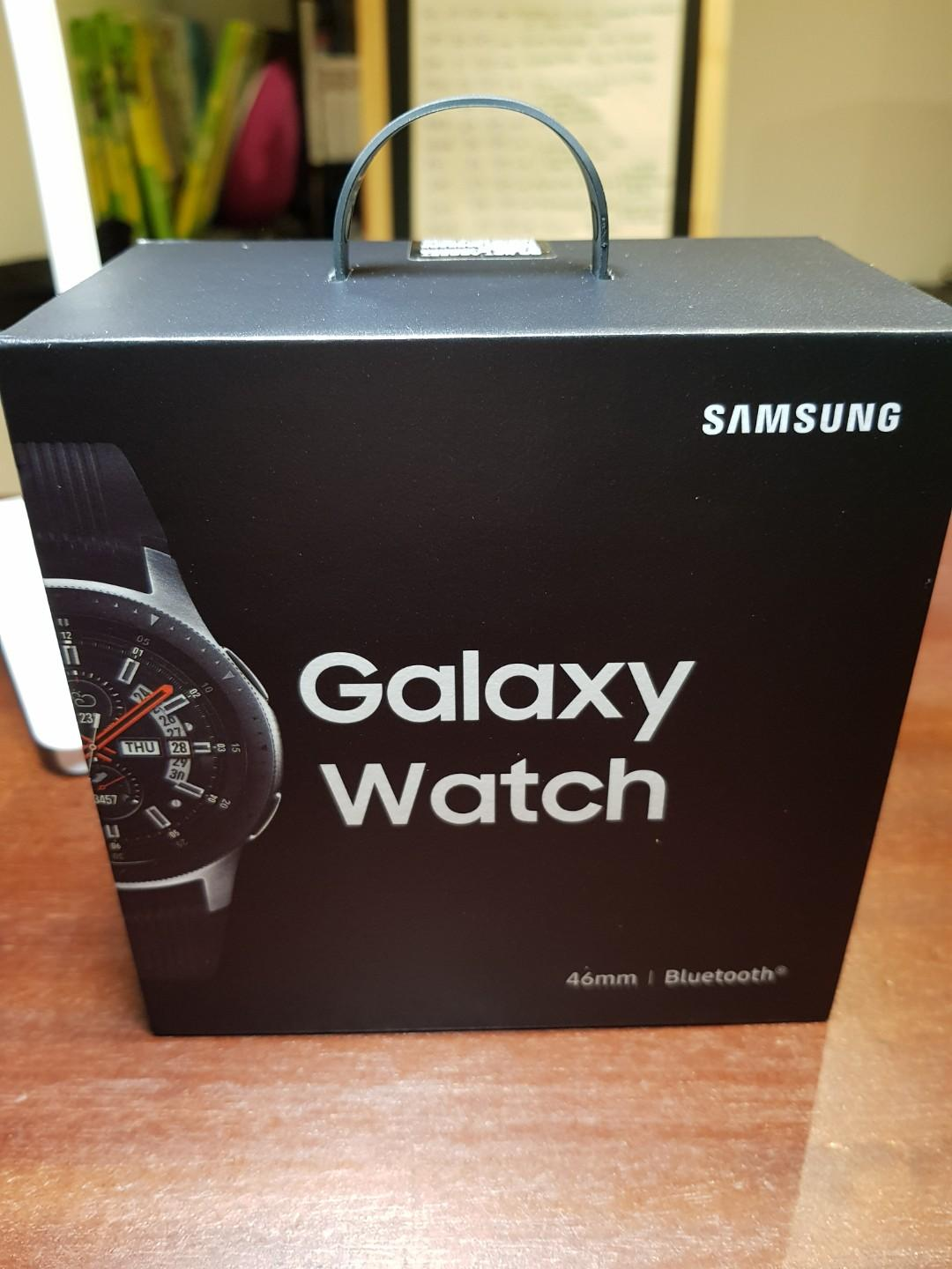 Brand New, Sealed Samsung Galaxy Watch - 46mm Bluetooth