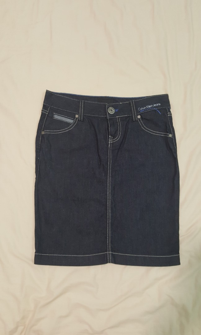 27c8411d6d Calvin Klein Jeans CK Denim skirt size 27 inch, Women's Fashion ...