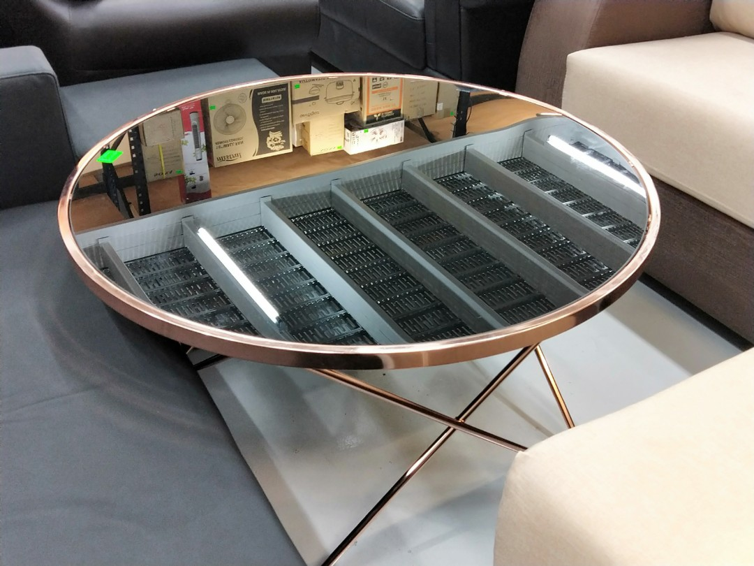 Cazo Rose Gold Coffee Table Large Furniture Tables Chairs On Carou