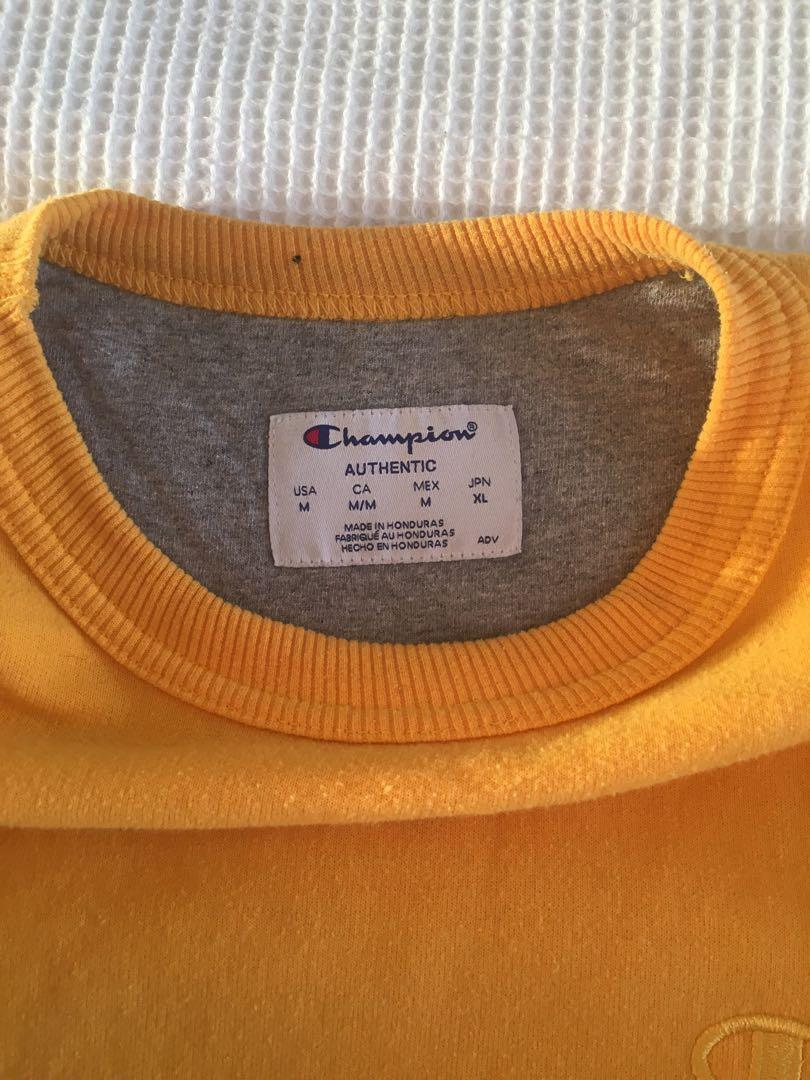 champion yellow crew neck