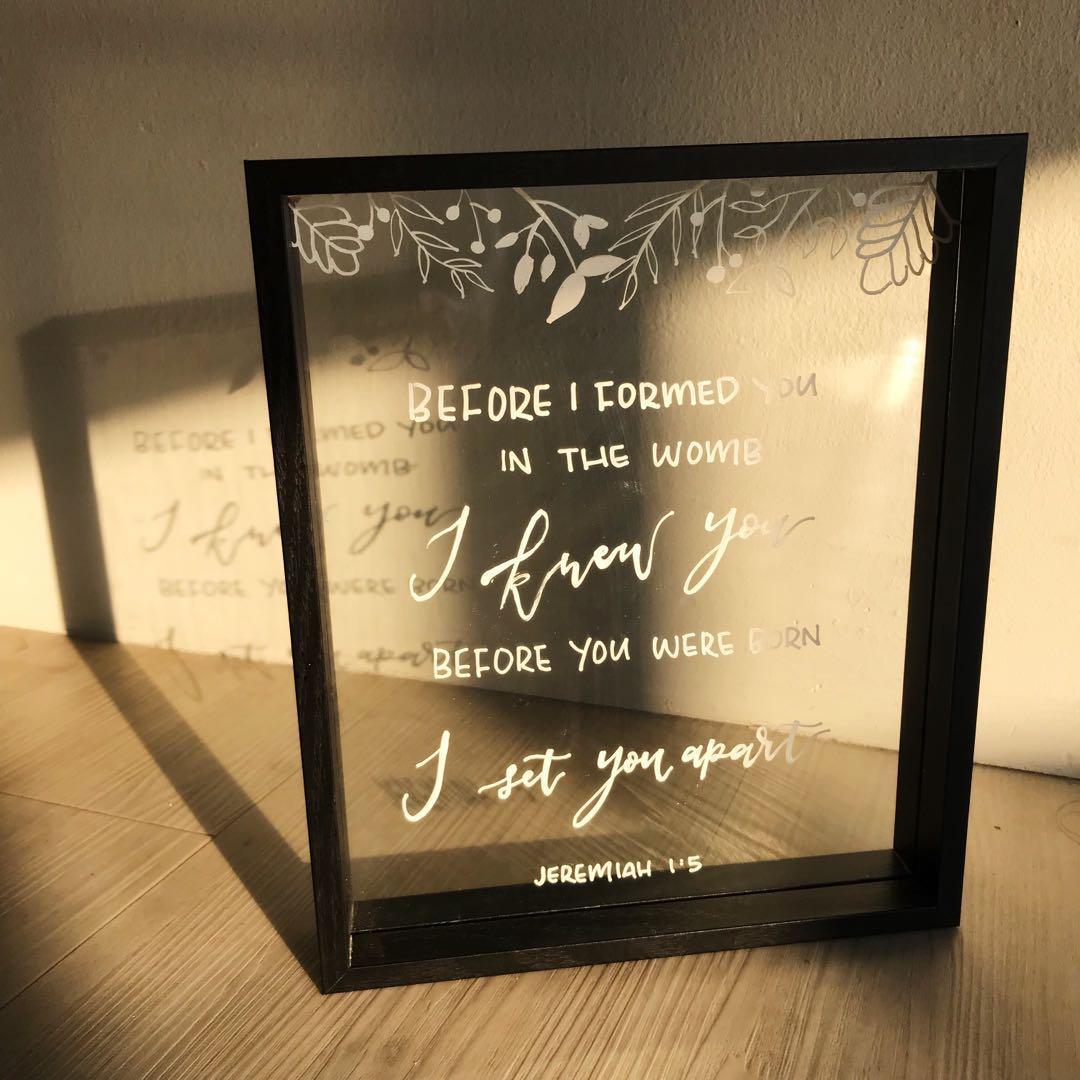 bdb4e9744220 Custom Glass Frame Calligraphy, Design & Craft, Handmade Craft on ...