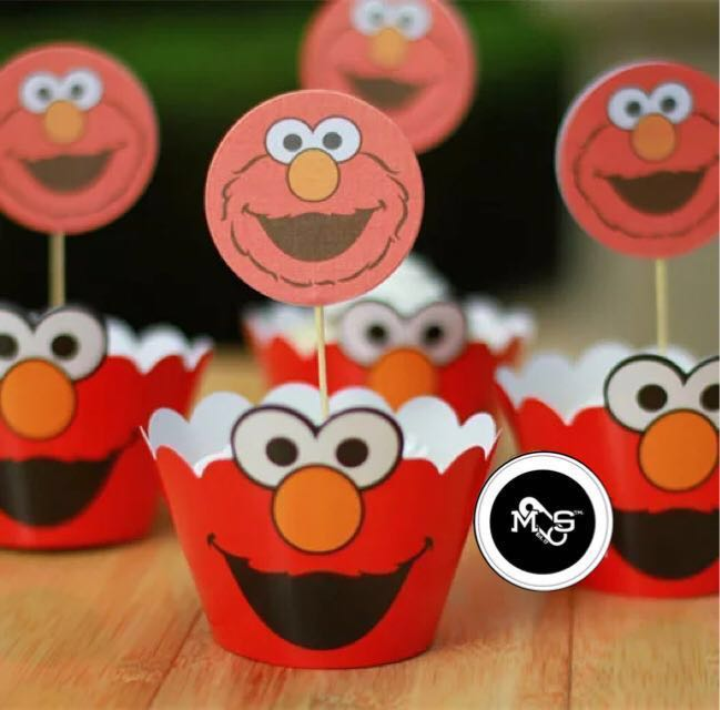 Elmo Cake Toppers Wrappers Babies Kids On Carousell