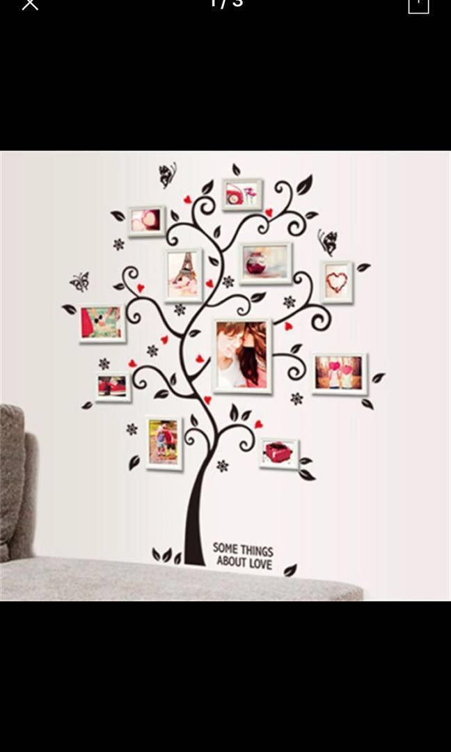 Family Tree Photo Frame Wall Sticker Design Craft Art Prints
