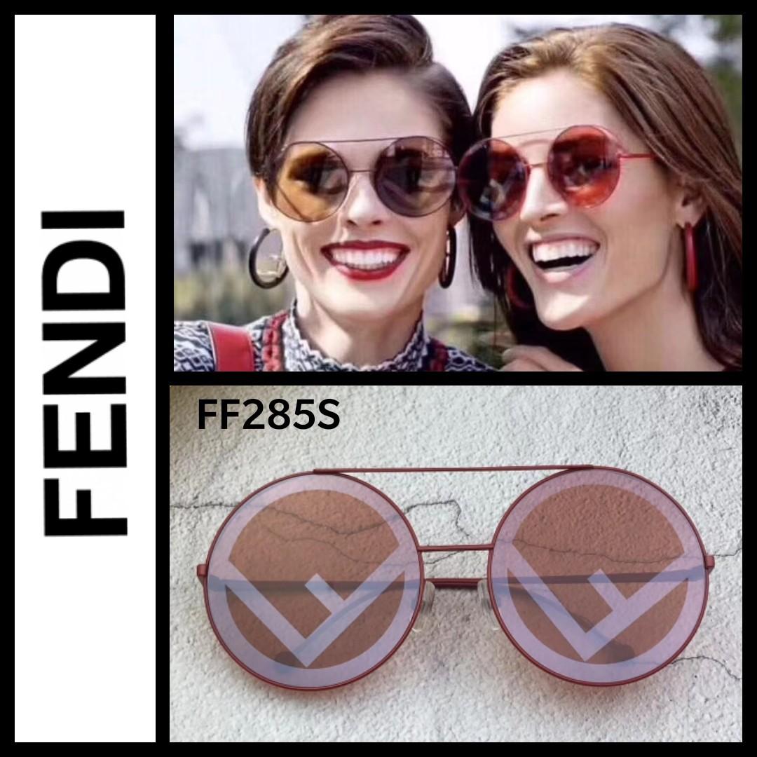 278385850fc0 Fendi Run Away round sunglasses
