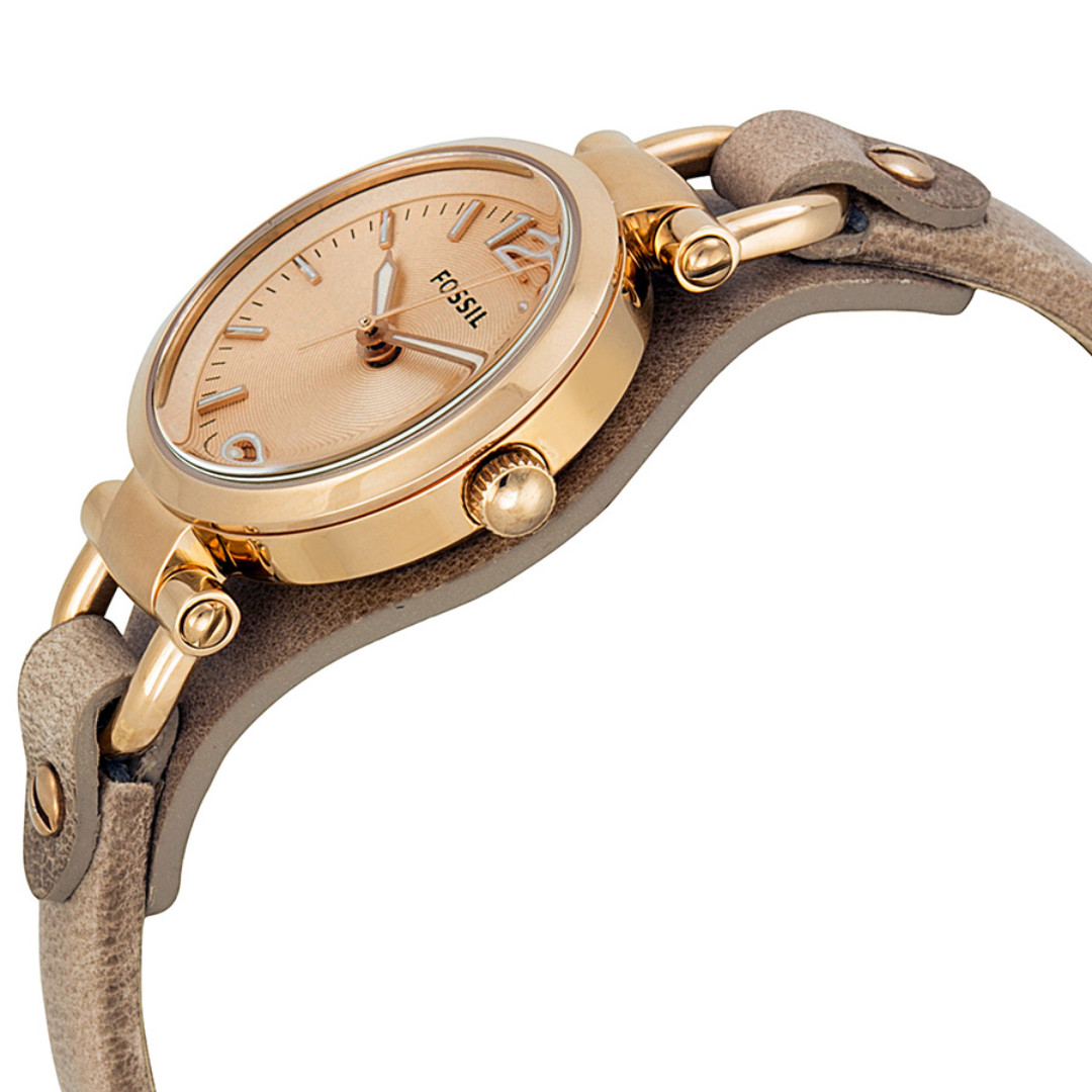 0de716bf3 Fossil Georgia Mini Rose Dial Sand Leather Strap Ladies Watch ES3262 ...