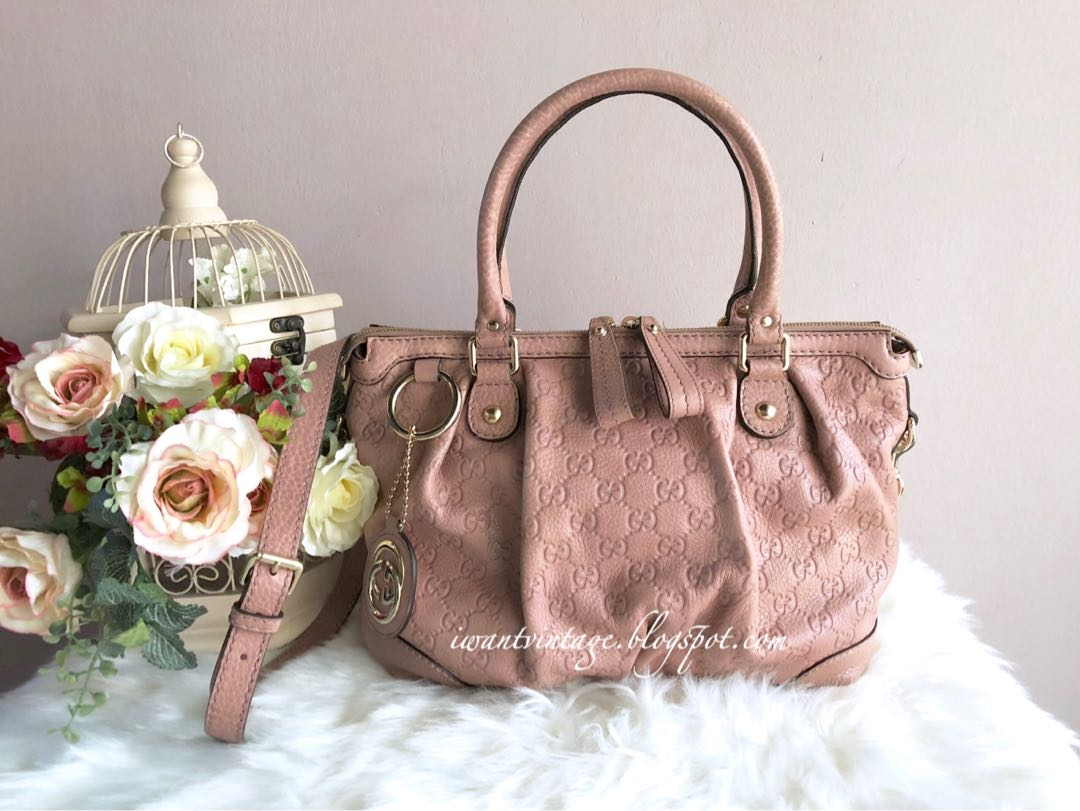 c417b3aa6b94 Gucci Sukey Guccissima Leather Top Handle Bag-Pale Pink, Luxury, Bags &  Wallets on Carousell