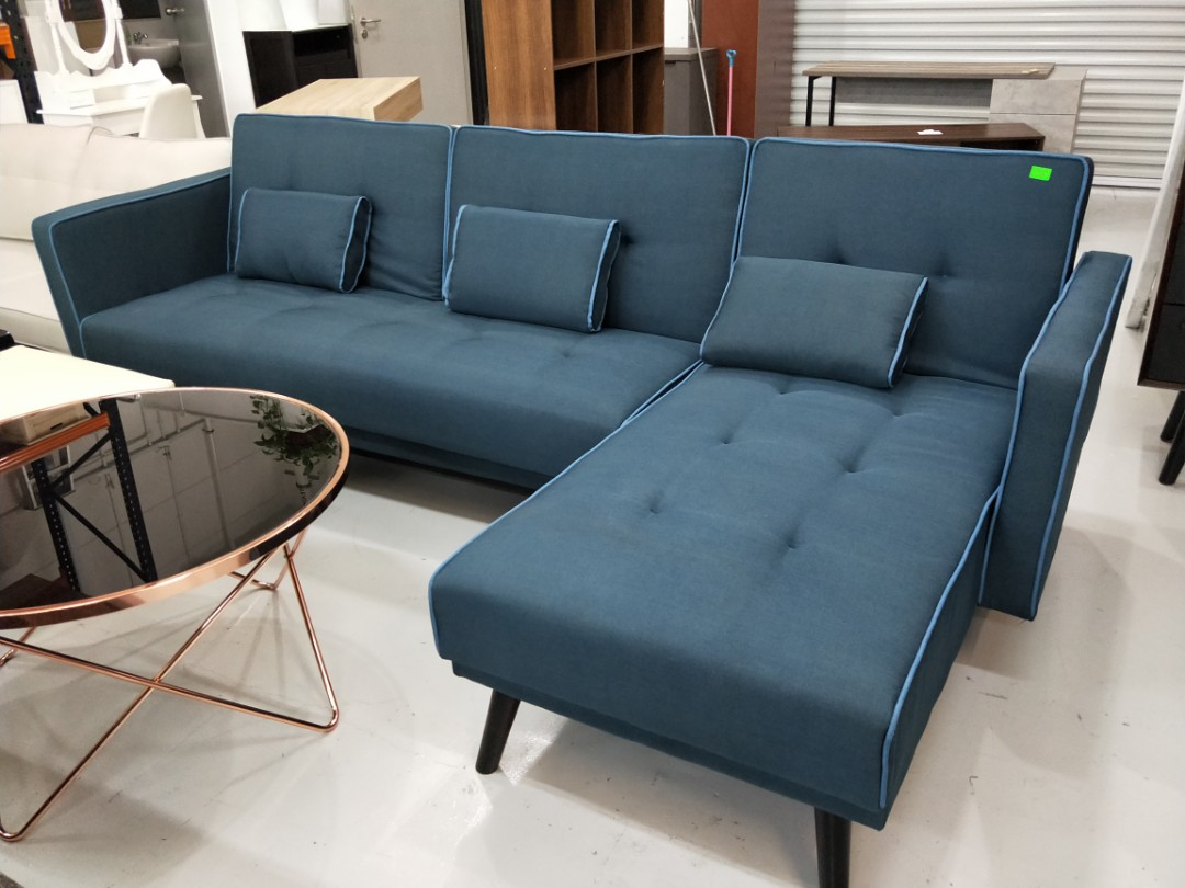 Guyver Blu L Shaped Sofa Bed Furniture Sofas On Carousell