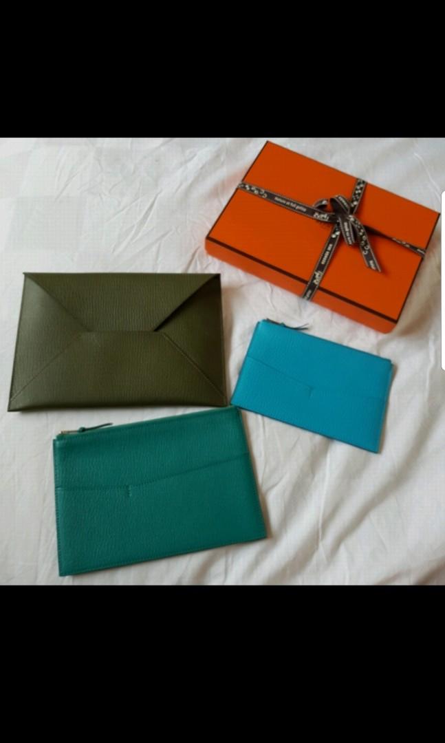 be5aab22f40f Hermes Envelope Trio Wallet Clutch