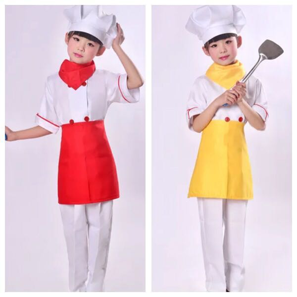 In Stock Kids Chef Costume Cook Costume Occupation Costume