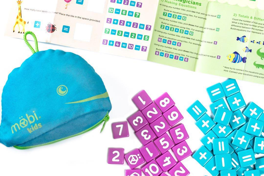 M/ÖBI Kids-The Numerical Tile Game for Kids in a Whale Pouch with Included Activity Booklet