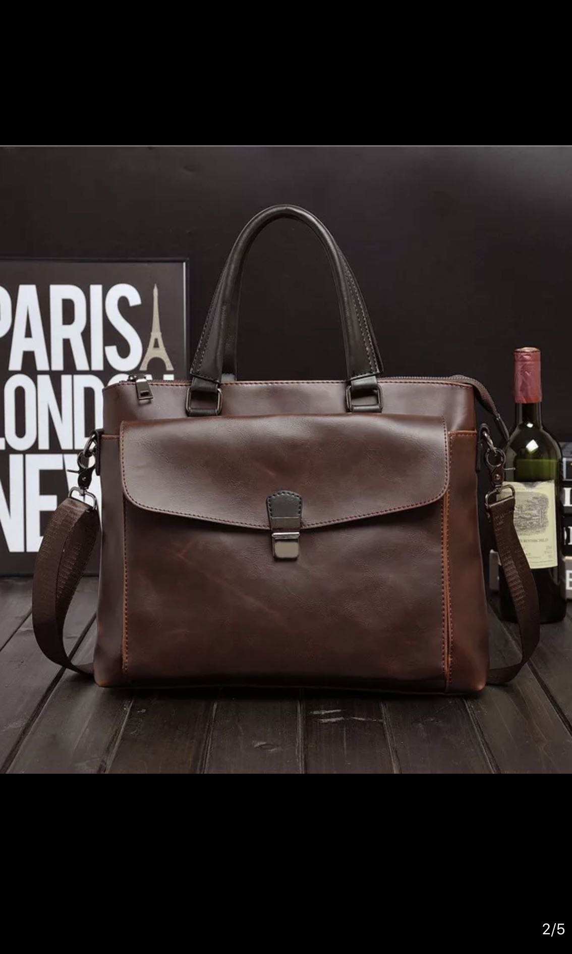b85f87786a Mens Formal Office Bag, Crazy Horse Leather Laptop Bag, Men's Fashion, Bags  & Wallets, Briefcases on Carousell