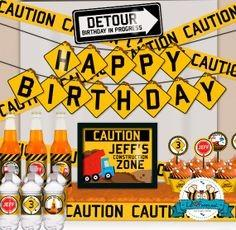 Looking for construction themed party items