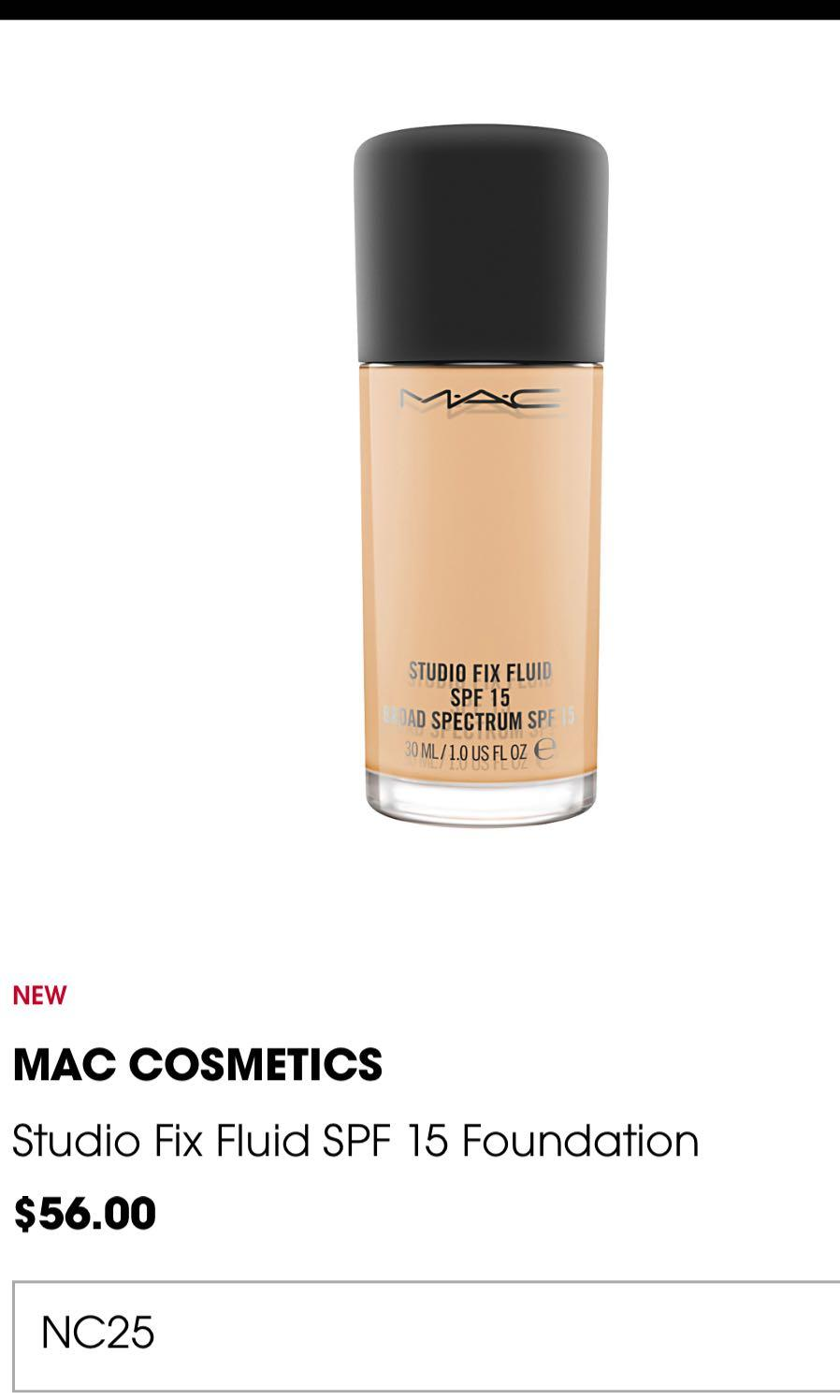 MAC Cosmetics Studio Fix Foundation
