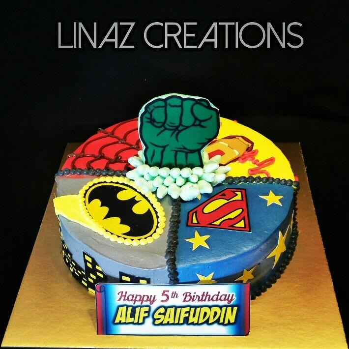 Marvel Superheros Theme Birthday Cake Need A CUSTOMISED CAKE
