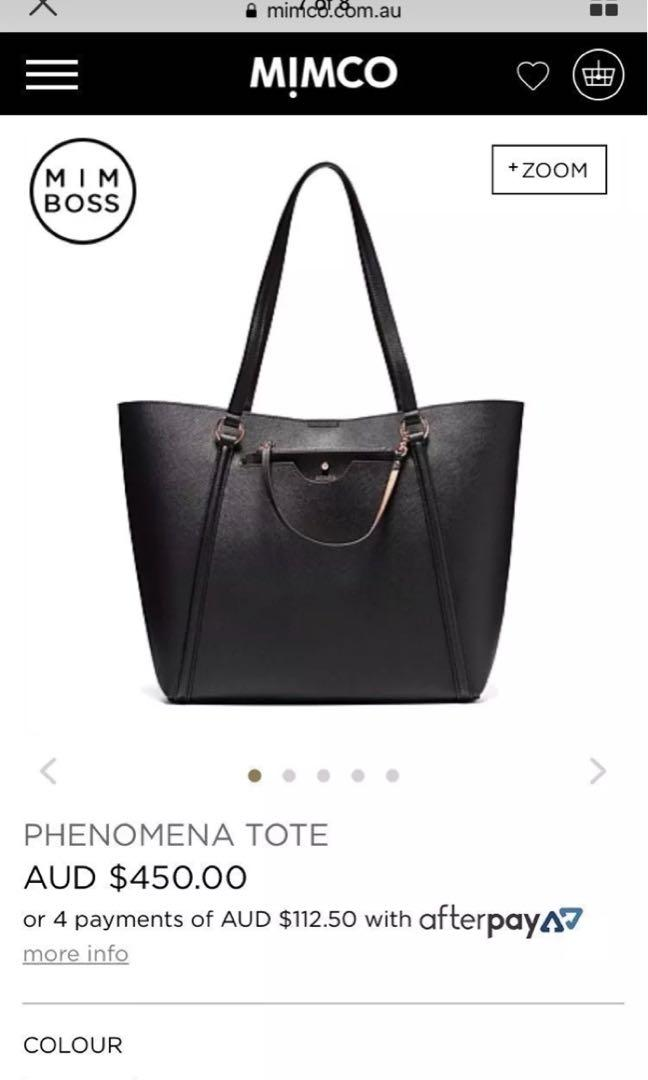Mimco phenomena tote - new with tags Rrp $450