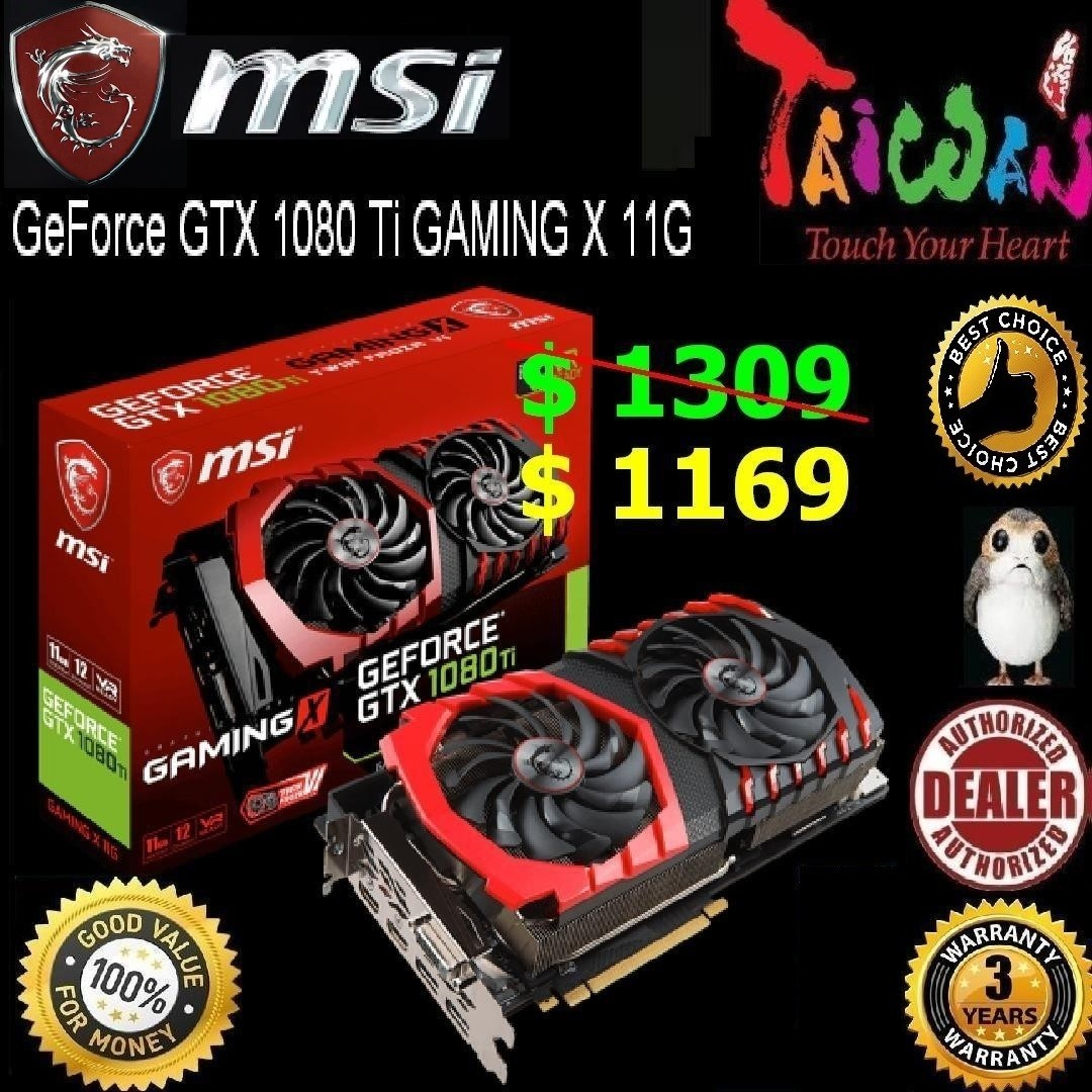 MSI GTX 1080 Ti GAMING X 11G, (still Faster than 2070 Gaming Z)