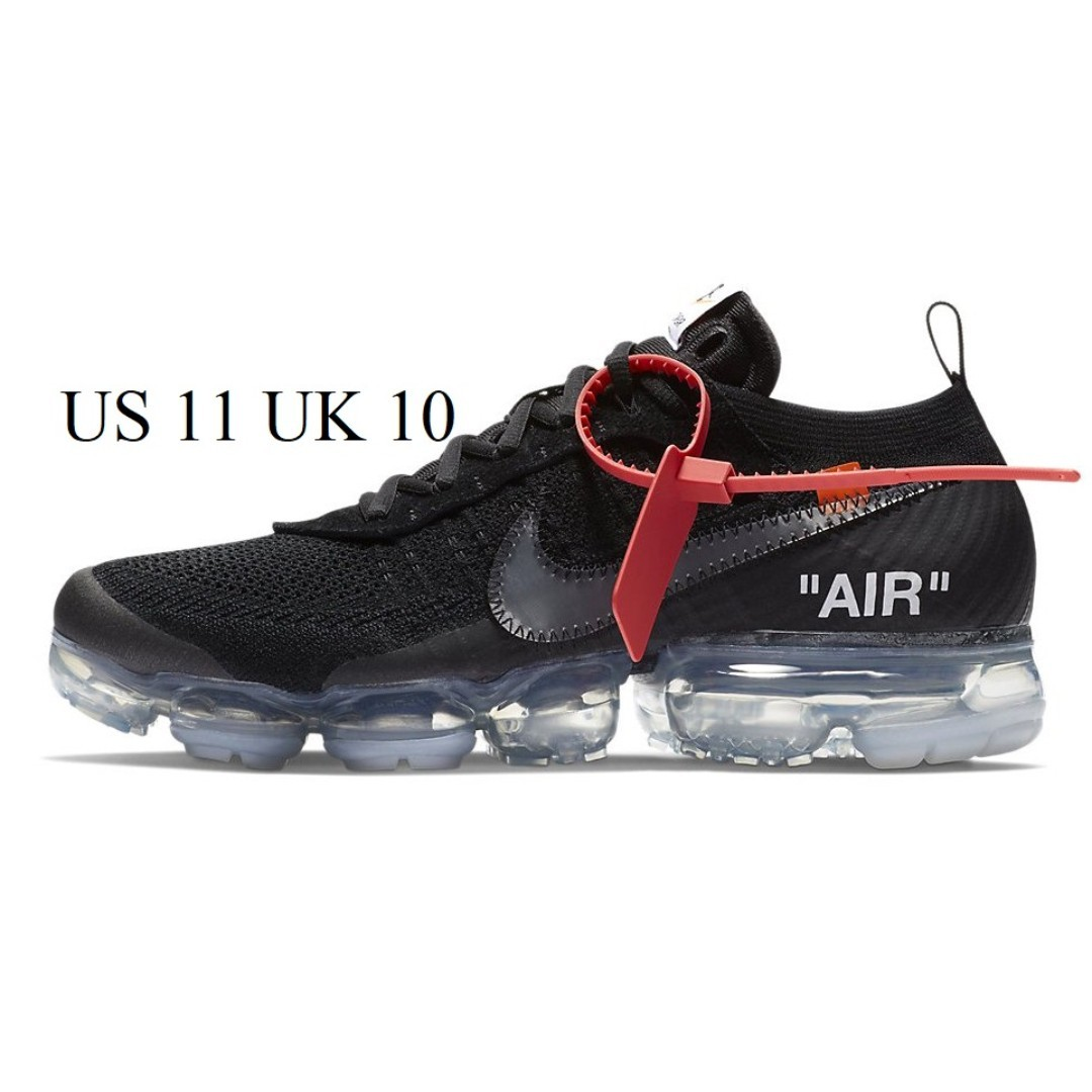1f88d907c8ea98 OFF WHITE Nike Air VaporMax Black US 11 UK 10 (AA3831-002)