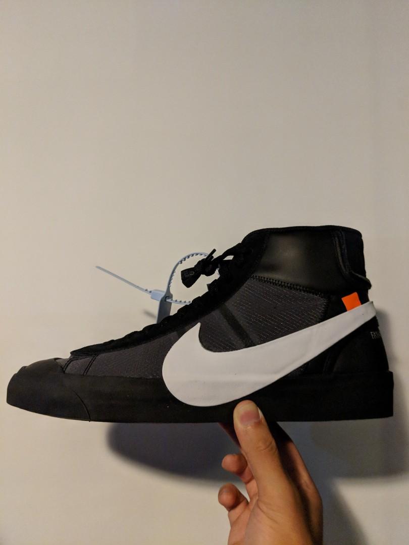 0b039cdcc6c993 Off White x Nike Blazer Grim Reaper Black US 12