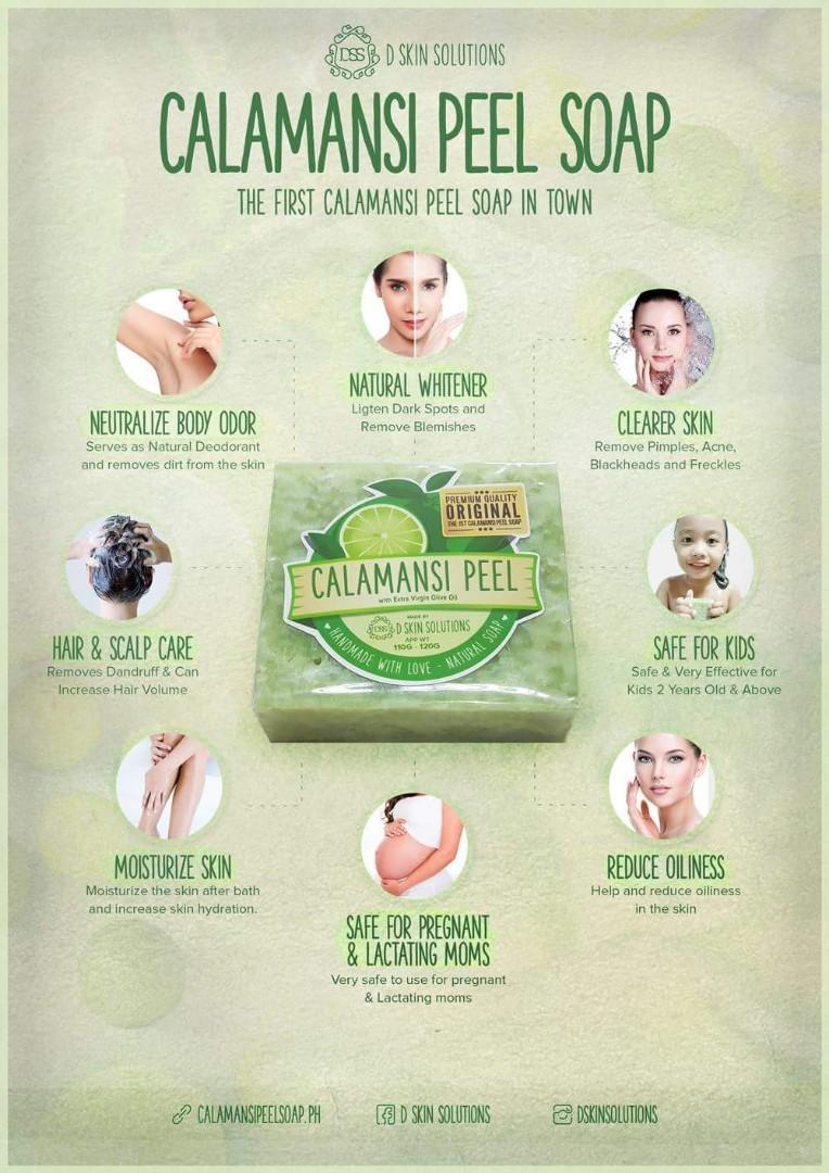 Organic Calamansi Peel Soap for Body Odor Prevention, Health