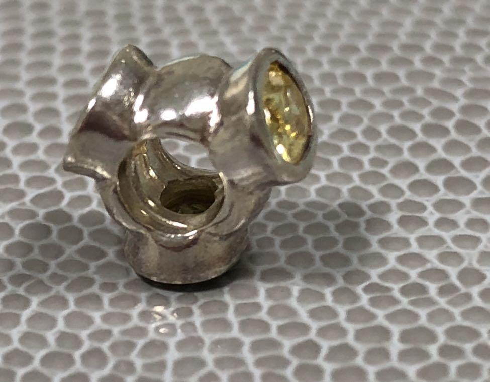 Pandora yellow CZ and silver retired charm