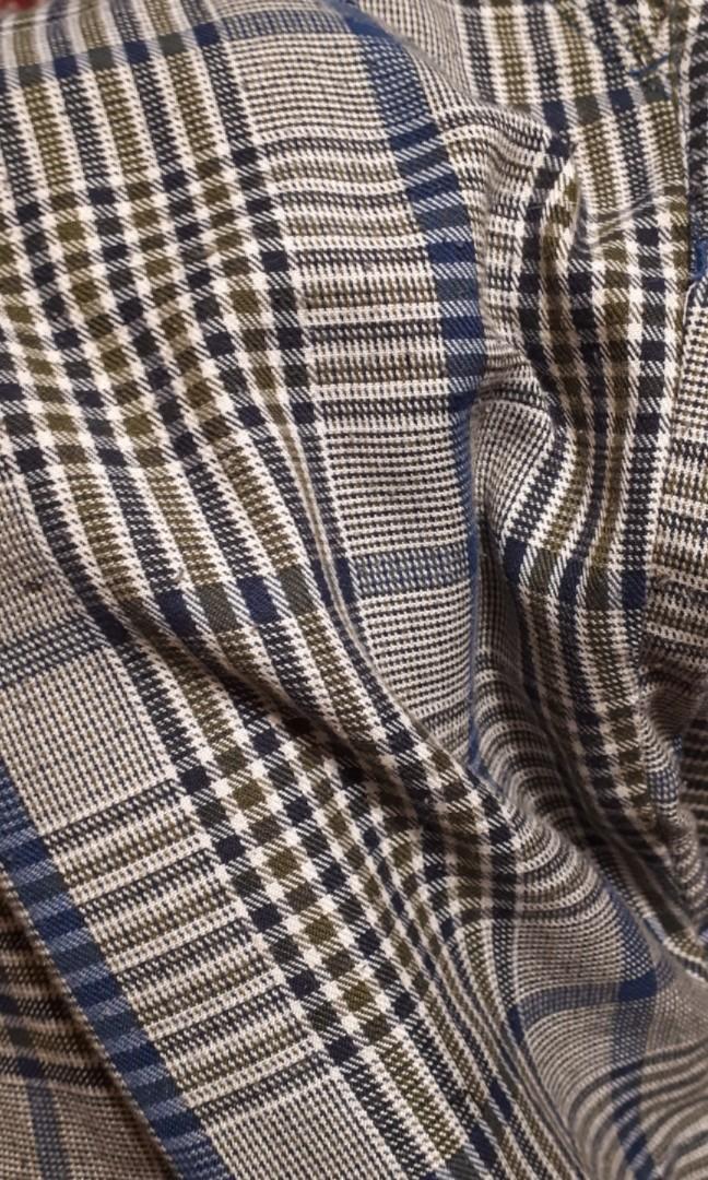 Plaid checkered punk green shorts