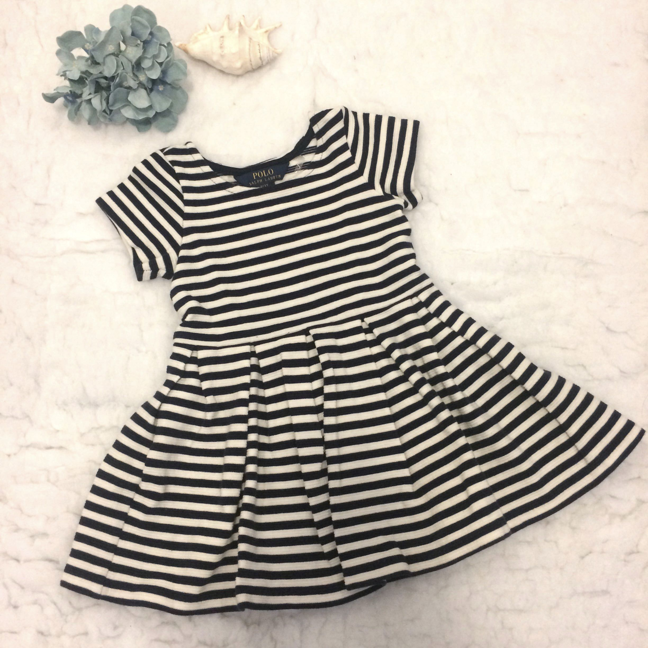 f3c26fde5 Polo Ralph Lauren Kids Striped Pleated Ponte Dress, Babies & Kids ...