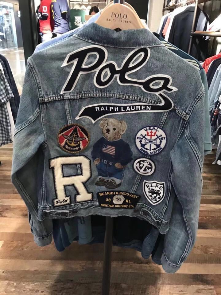a8e04b63ad Polo Ralph Lauren Patchwork Denim Trucker Jacket