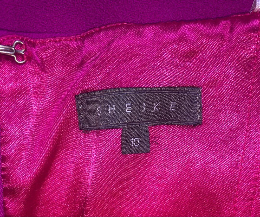 Sheike Vivid Pink Plunge Dress