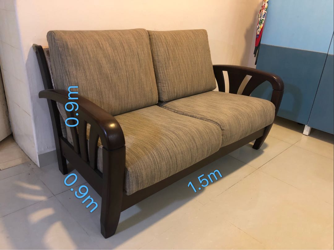 Solid Wood Sofa Furniture Sofas On