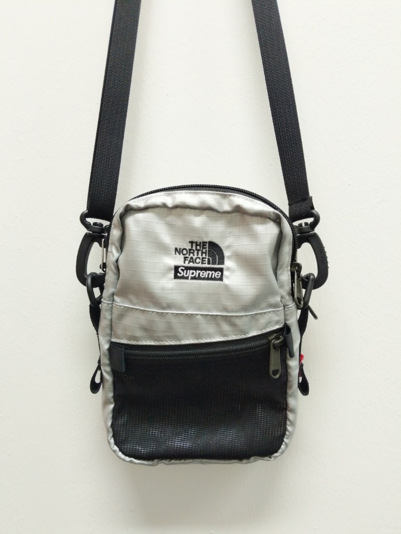 78c07492d Supreme X The North Face SS18 Metallic Shoulder Bag [Silver], Men's ...