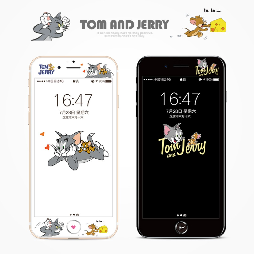 Tom & Jerry - tempered glass screen protector for iphone