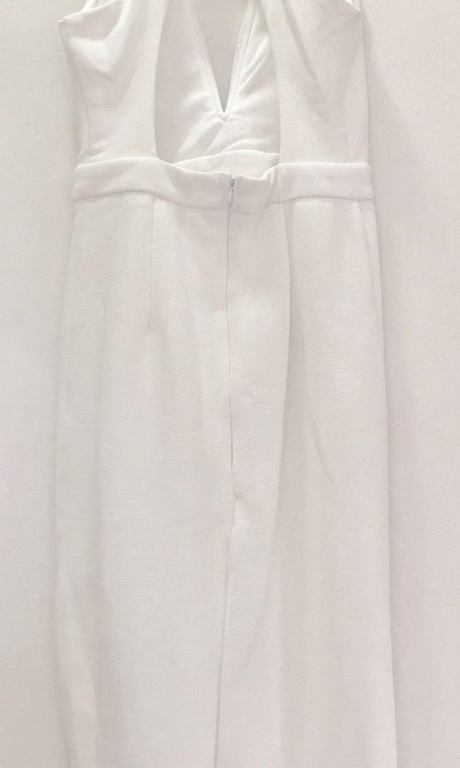 White Elegant Evening Dress