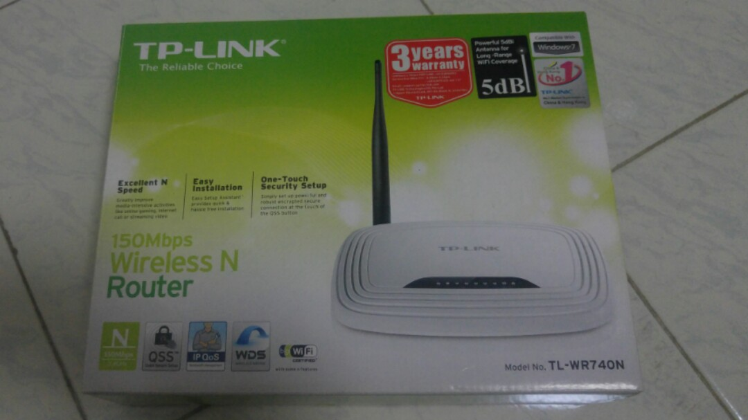 Wireless Router TP Link TL-WR740N