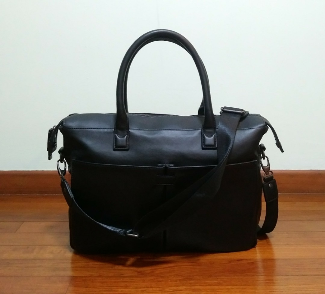 568e811ca7 Zara Man - Black Briefcase, Men's Fashion, Bags & Wallets, Others on ...