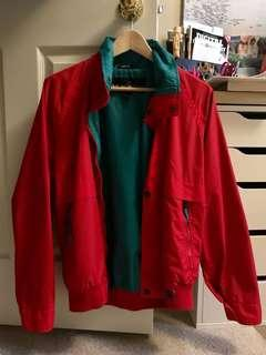 Vintage ski jacket in red and teal