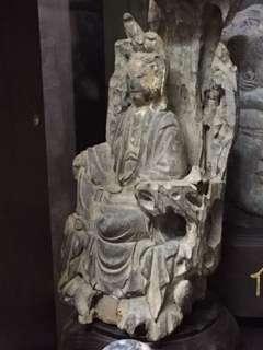 🚚 木雕佛像觀音佛祖(老件)