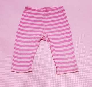 """Celana legging garis"""" pink, baby 2th"""
