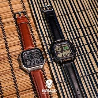 🚚 Genuine Smooth Leather Strap in Black and Brown