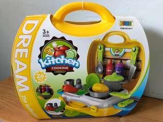 兒童廚房玩具手提箱