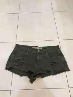 Zara wash denim short