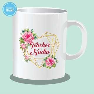 Customised Mugs - Floral Geometric Series - Birthday Gift